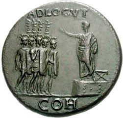 Caligula et son siège curule
